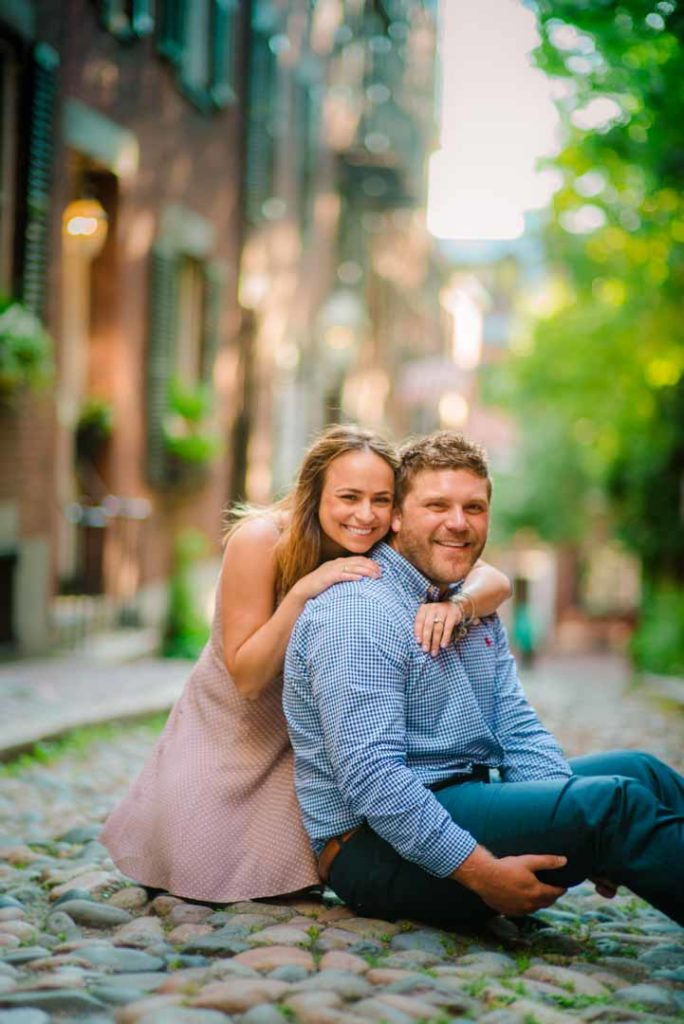 engagement photos at acorn street boston