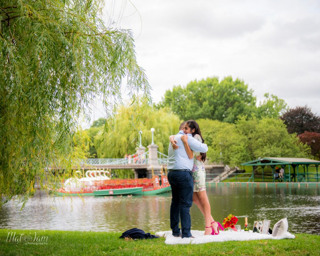 boston public garden wedding proposal