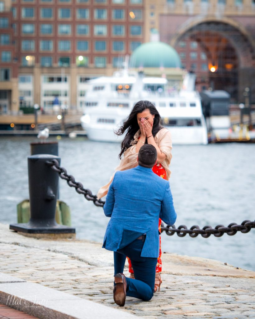 You can see the emotions captured from this wedding proposal