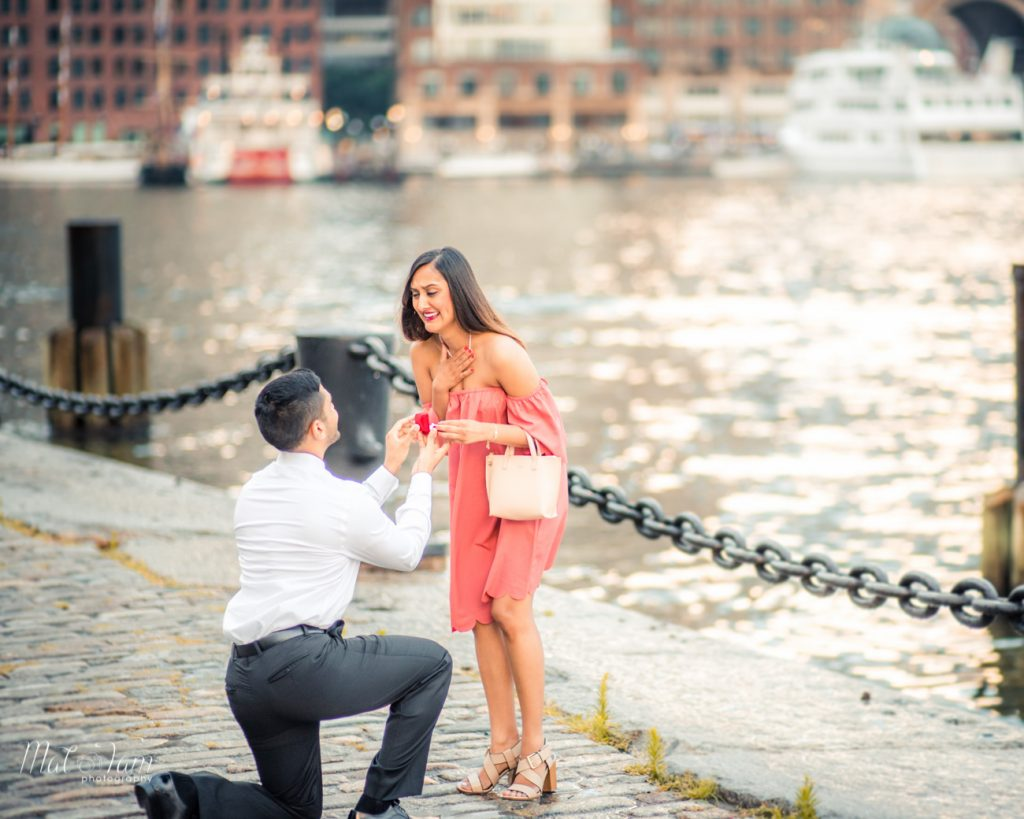 The joy and emotions from a wedding proposal